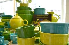 Tone on tone Fiestaware: some of my favourite kitchen staples