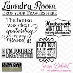 DIGITAL DOWNLOAD ... Laundry room vectors in AI, EPS, GSD, & SVG formats @ My Vinyl Designer #myvinyldesigner #sonyadehartdesign