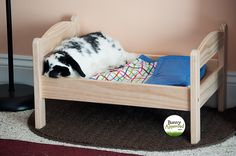 Bunny loves his Ikea bed... http://bunnyapproved.com/product/ikea-duktig-pine-bed-with-bedlinen-set/