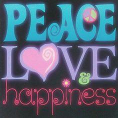 Peace ☮ Love ॐ Happiness