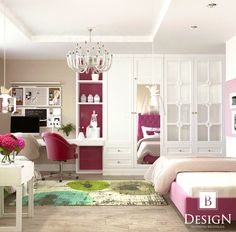 #комната #зеркало #красивыйшкаф #дизайн #интерьер #малиновый #люстра #детскаякомната #дизайнинтерьера #стул #room #bedroom #girl #design #interior #beige #white #chair #brodskaya #bed #floor