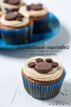 We make these paw print cupcakes aka applesauce cupcakes with applesauce frosting to celebrate the release of The Secret Life of Pets movie.