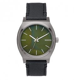 NEW Gunmetal/Green Oxyde Sentry Leather Watch | $175 | Doing more with less. The inspiration for The Sentry 38 Leather, comes from the movement towards making an impact with understated size. Scaled down, this watch displays bold dials and a distinctive look with subtle proportions. | GOTSTYLE.CA