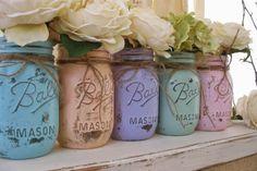 Shabby Chic Mason Jars