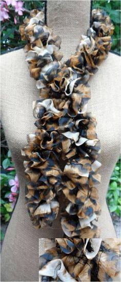 Crochet ruffle scarf starbella flirt sahara scarves and crochet ruffle scarf premier starbella bengal dt1010fo