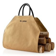 This #monogram log carrier would make a great #HousewarmingGift {or #preppy addition to your home}! // MarkAndGraham.com