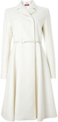 MAX MARA Villar Belted Wool Coat @Lyst