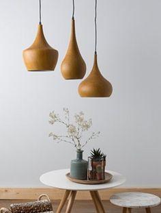 hanglamp met hout - Google zoeken