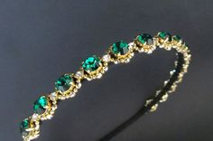 Hey, I found this really awesome Etsy listing at https://www.etsy.com/listing/213010225/emerald-gold-headbandwedding