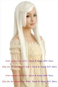 NEW Fashion HOT sexy Supper Long white Straight Anime cosplay wigs party Masquerade girls 100CM by Sweet & Happy Girl's Anime Wigs. $41.97. NEW store open, Big Discount, From factory, Arrive in 2-3 weeks. Worth the wait... Full Wigs, Change Your Looks In Seconds.Great Idea for Party Cosplay Masquerade etc.. Click my brand find more size & Newest Style wigs. RETURNS ACCEPTABLE IN 14 DAYS (ORIGINAL SELLING STATUS,NO WEAR PLEASE). Fashion Wigs, Janpanese Synthetic Fiber. NOT Hu...