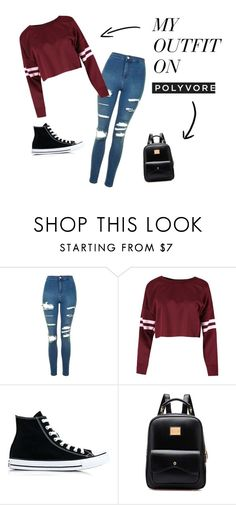"""""""Party Rock Anthem"""" by andreea-ioa-na on Polyvore featuring Topshop and Converse"""