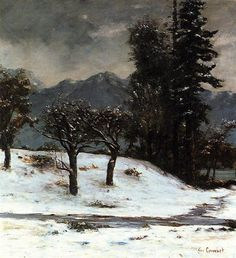 Nieve 1874 - Gustave Courbet