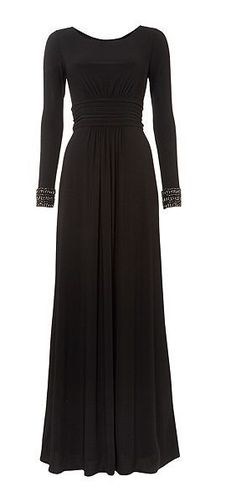 Beautiful Maxi Dress With Embellished Cuffs <3
