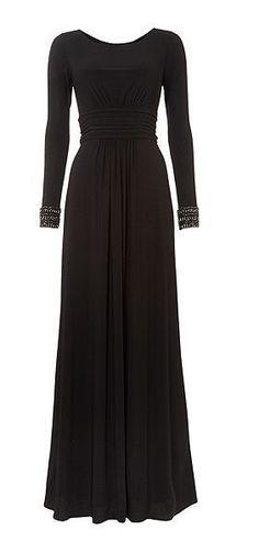 Beautiful Maxi Dress With Embellished Cuffs <3