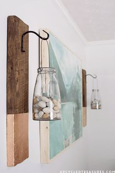 DIY Wall Art Ideas and Do It Yourself Wall Decor for Living Room, Bedroom, Bathroom, Teen Rooms |   DIY Modern Rustic Wall Hanging  | Cheap Ideas for Those On A Budget. Paint Awesome Hanging Pictures With These Easy Step By Step Tutorials and Projects  |  http://diyjoy.com/diy-wall-art-decor-ideas