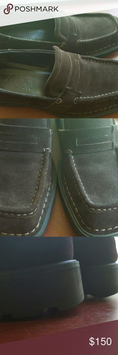 Ferragamo Men's Shoes Chocolate suede size 9 Ferragamo Shoes Loafers & Slip-Ons