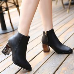 #Black #Chunky #MetallicHeels #PointedToe #AnkleBoots #AW15 £34.99 @ ShanghaiTrends.co.uk  /  http://shanghaitrends.co.uk/black-chunky-metallic-heel-pointed-toe-ankle-boots