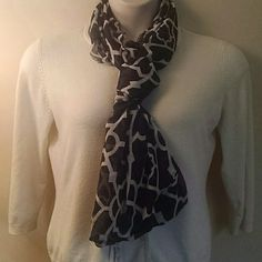 *HP Trends Party*   Really Cute Scarf Its a real cute black and white pattern. Charming Charlie Accessories Scarves & Wraps