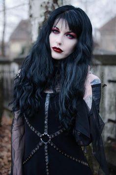 "gothicandamazing: "" Model, styling, photo Magda Corvinus Assistant: C. Ioan Dress Dark in love Welcome to Gothic and Amazing   www.gothicandamazing.com """