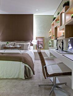 Quarto de casal por Maithiá Guedes #cabeceira #bedroom #homedecor #interiordesign #decoração #apartamentodecorado