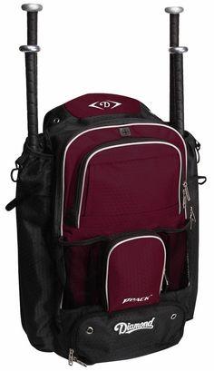 7c2bba31c3c Amazon.com   Diamond BPack Baseball Softball Backpack (Black)   Baseball  Bat Bags   Sports   Outdoors
