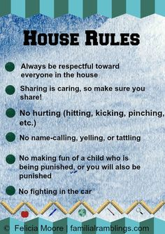 House Rules (blue) to help prevent Sibling Rivalry Rules For Kids, Chores For Kids, Pre K Activities, Teaching Activities, Sibling Fighting, After School Routine, Age Appropriate Chores, Chore Chart Kids, Sibling Rivalry