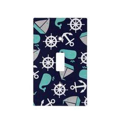 Nautical Sailboats Nursery Light Switch Cover