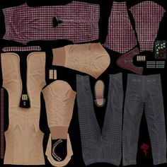 3d male casual clothes 6 model