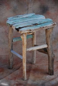 Driftwood table – small driftwood table, foot stool or stand made of Maui driftwood - Diy Möbel Driftwood Dining Table, Driftwood Furniture, Driftwood Projects, Furniture Near Me, Furniture Projects, Diy Furniture, Rustic Furniture, Furniture Design, Liberty Furniture