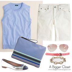 Outfit Post - Classic Casual J.Crew Jackie Shell and White Shorts (via Bloglovin.com )