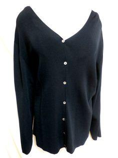 Avenue EUC Plus Size Black Long Sleeve Rayon Blend Cardigan Sweater 26/28 3X #Avenue #Cardigan