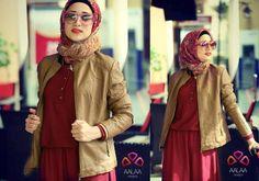 tan leather jacket,