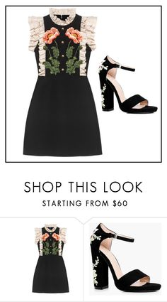 """""""Untitled #2"""" by minka-989 ❤ liked on Polyvore featuring Gucci and Boohoo"""