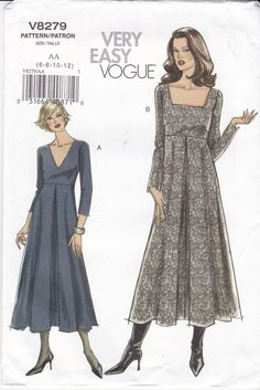 Hey, I found this really awesome Etsy listing at https://www.etsy.com/listing/204739157/uncut-vogue-sewing-pattern-8279-inverted
