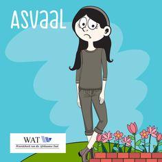A17930 Dagbreek Trust Woord van die week April-2 Afrikaans, Idioms, Spelling, Family Guy, Van, Teaching, Words, Poppies, Character