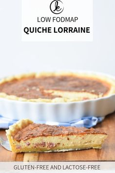 A classic! The famous French quiche, but then low FODMAP, gluten-free and lactose-free. Perfect for dinner or for a brunch, potluck or party snack. Fodmap Recipes, Gluten Free Recipes, Sans Lactose, Lactose Free, Dairy Free, Low Fodmap Vegetables, Easy Holiday Recipes, Dinner Recipes, Appetizer Recipes