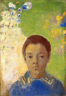 Odilon Redon, portrait d'enfant.