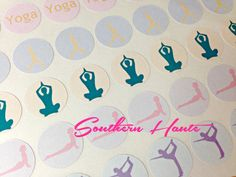 Yoga Planner Stickers Perfect for Erin Condren by SouthernHaute