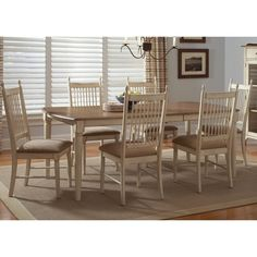 Cove Weathered Ivory and Maple Dinette Table