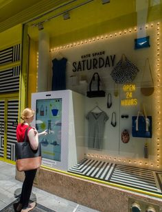 Kate Spade Touchscreen Kiosk