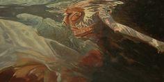 """Despair,"" study 24"" X 48"" oil on canvas, original art is available"