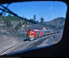 RailPictures.Net Photo: ATSF 304 Atchison, Topeka & Santa Fe (ATSF) EMD F7(A) at Gallinas, Colorado by Steve Patterson