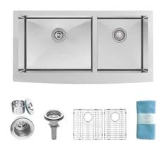 We love stainless steel farm sinks in a bea. We love stainless steel farm sinks in a bea… 100 Stainless S Stainless Steel Farmhouse Sink, Farmhouse Sink Kitchen, Stainless Steel Sinks, Stainless Steel Kitchen, Kitchen Sinks, Kitchen Remodel, Kitchen Cabinets, Beach Kitchens, Luxury Kitchens