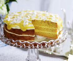 This lemon yoghurt cake is a zingy delight - that lemon curd frosting is absolute heaven! Lemon Curd Dessert, Lemon Curd Cake, Lemon Yogurt Cake, Lemon Curd Recipe, Lemon Cakes, Lemon Butter, Three Milk Cake, Meringue Cake, Crepe Cake