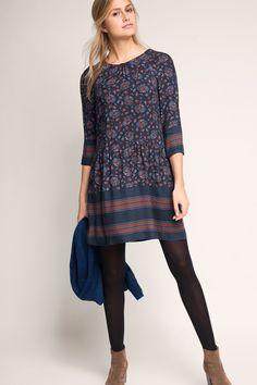 edc - Fließendes Kleid im Muster-Mix im Online Shop kaufen