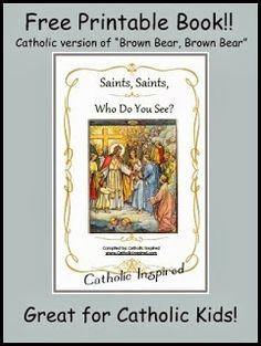 Saints, Saints, Who Do You See? {Printable ebook} - Catholic Inspired