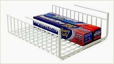 "Under Shelf Wrap Rack in WHITE model 1983W from Organize It All by Neu Home. $11.74. You will receive (1) Organize It All Under Shelf Wrap Rack model 1983. Stores your food wrappers in one convient location.. Eliminates clutter in a neat organized space.. Size: 12 1/2 x 12 1/2 x 5 1/4"". Compact design fits beneath cabinet; pantry shelves.. Neu Home Foil/ Plastic Wrap Holder, WhiteMade of heavy duty wire construction with a white vinyl coating that will not scratch wo..."