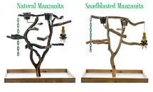 See OVER 100 different tabletop wood bird stands, wood parrot perches and other wooden bird perches made from wood dowels to manzanita at the Perch Factory. Parrot Perch, Bird Perch, Bird Stand, Wood Bird, Wood Table, Play, Top, Timber Table, Crop Shirt