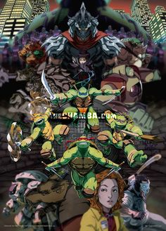 TMNT - Chamba  Can we get a Ninja Turtles show that's as badass as this, please?!?