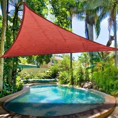 A yard sail is an easy and inexpensive way to create shade.  Imagine being able to enjoy your swimming pool without getting a sunburn!